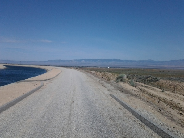 Then it looked like this for a really long time (walking along the California aqueduct)